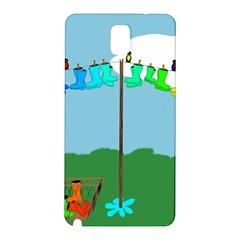 Welly Boot Rainbow Clothesline Samsung Galaxy Note 3 N9005 Hardshell Back Case