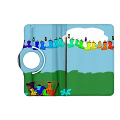 Welly Boot Rainbow Clothesline Kindle Fire Hd (2013) Flip 360 Case