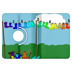 Welly Boot Rainbow Clothesline Kindle Fire Hdx Flip 360 Case