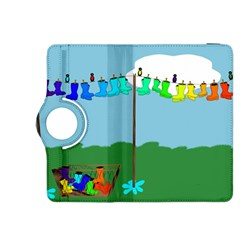 Welly Boot Rainbow Clothesline Kindle Fire Hdx 8 9  Flip 360 Case