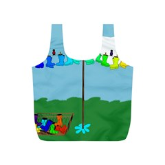 Welly Boot Rainbow Clothesline Full Print Recycle Bags (S)