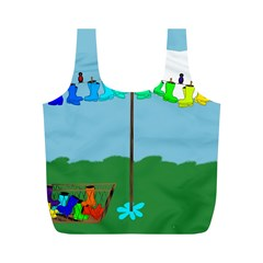 Welly Boot Rainbow Clothesline Full Print Recycle Bags (m)