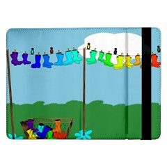 Welly Boot Rainbow Clothesline Samsung Galaxy Tab Pro 12 2  Flip Case
