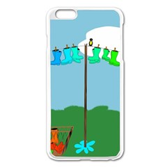 Welly Boot Rainbow Clothesline Apple Iphone 6 Plus/6s Plus Enamel White Case