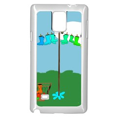 Welly Boot Rainbow Clothesline Samsung Galaxy Note 4 Case (white)