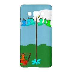 Welly Boot Rainbow Clothesline Samsung Galaxy A5 Hardshell Case