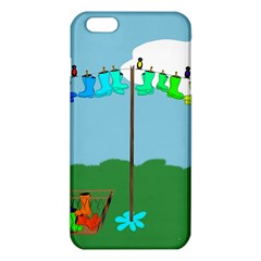 Welly Boot Rainbow Clothesline iPhone 6 Plus/6S Plus TPU Case
