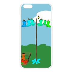 Welly Boot Rainbow Clothesline Apple Seamless iPhone 6 Plus/6S Plus Case (Transparent)