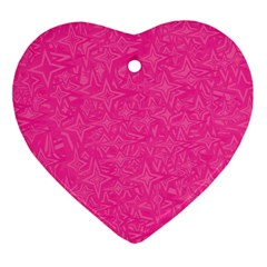 Geometric Pattern Wallpaper Pink Ornament (heart)