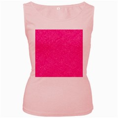 Geometric Pattern Wallpaper Pink Women s Pink Tank Top
