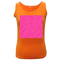 Geometric Pattern Wallpaper Pink Women s Dark Tank Top
