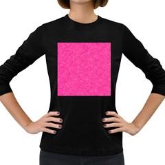 Geometric Pattern Wallpaper Pink Women s Long Sleeve Dark T Shirts