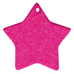 Geometric Pattern Wallpaper Pink Star Ornament (two Sides)