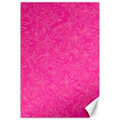 Geometric Pattern Wallpaper Pink Canvas 12  X 18