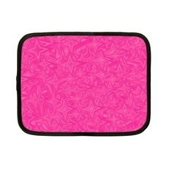 Geometric Pattern Wallpaper Pink Netbook Case (Small)