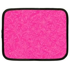 Geometric Pattern Wallpaper Pink Netbook Case (large)