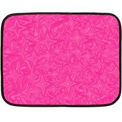 Geometric Pattern Wallpaper Pink Double Sided Fleece Blanket (mini)