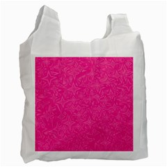 Geometric Pattern Wallpaper Pink Recycle Bag (two Side)
