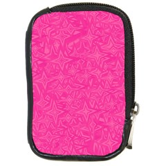 Geometric Pattern Wallpaper Pink Compact Camera Cases