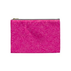 Geometric Pattern Wallpaper Pink Cosmetic Bag (Medium)