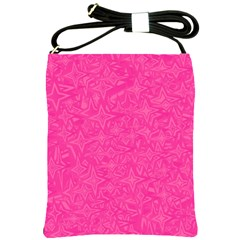 Geometric Pattern Wallpaper Pink Shoulder Sling Bags