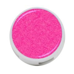 Geometric Pattern Wallpaper Pink 4 Port Usb Hub (one Side)