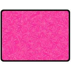 Geometric Pattern Wallpaper Pink Fleece Blanket (large)