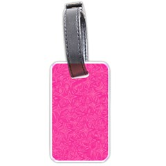 Geometric Pattern Wallpaper Pink Luggage Tags (one Side)