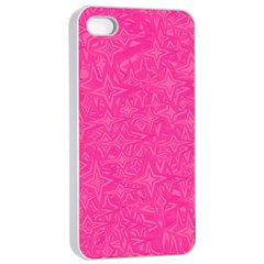 Geometric Pattern Wallpaper Pink Apple Iphone 4/4s Seamless Case (white)