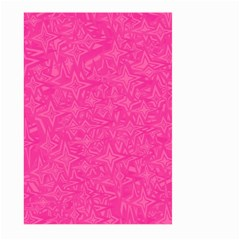 Geometric Pattern Wallpaper Pink Large Garden Flag (two Sides)
