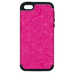 Geometric Pattern Wallpaper Pink Apple iPhone 5 Hardshell Case (PC+Silicone)