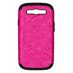 Geometric Pattern Wallpaper Pink Samsung Galaxy S Iii Hardshell Case (pc+silicone)
