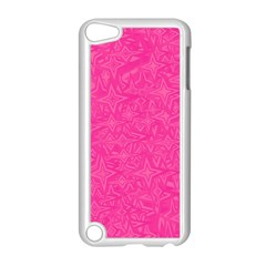 Geometric Pattern Wallpaper Pink Apple Ipod Touch 5 Case (white)