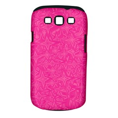 Geometric Pattern Wallpaper Pink Samsung Galaxy S Iii Classic Hardshell Case (pc+silicone)
