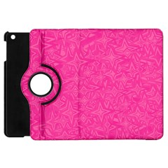 Geometric Pattern Wallpaper Pink Apple iPad Mini Flip 360 Case