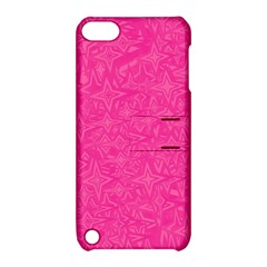 Geometric Pattern Wallpaper Pink Apple Ipod Touch 5 Hardshell Case With Stand