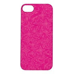 Geometric Pattern Wallpaper Pink Apple iPhone 5S/ SE Hardshell Case