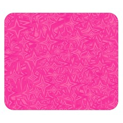Geometric Pattern Wallpaper Pink Double Sided Flano Blanket (small)
