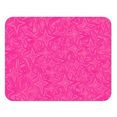 Geometric Pattern Wallpaper Pink Double Sided Flano Blanket (large)