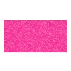 Geometric Pattern Wallpaper Pink Satin Wrap