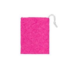 Geometric Pattern Wallpaper Pink Drawstring Pouches (XS)