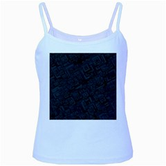 Black Rectangle Wallpaper Grey Baby Blue Spaghetti Tank