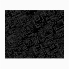 Black Rectangle Wallpaper Grey Small Glasses Cloth (2 Side)