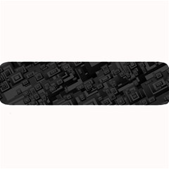Black Rectangle Wallpaper Grey Large Bar Mats
