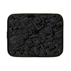 Black Rectangle Wallpaper Grey Netbook Case (small)