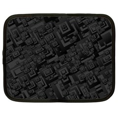 Black Rectangle Wallpaper Grey Netbook Case (XXL)