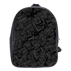 Black Rectangle Wallpaper Grey School Bags(large)