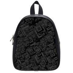 Black Rectangle Wallpaper Grey School Bags (small)