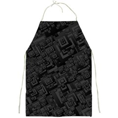 Black Rectangle Wallpaper Grey Full Print Aprons