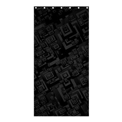 Black Rectangle Wallpaper Grey Shower Curtain 36  X 72  (stall)